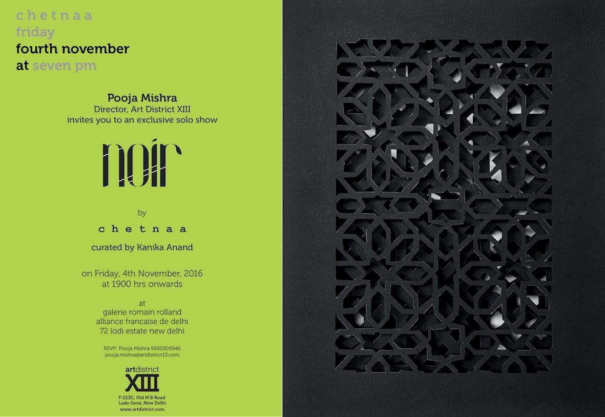 Invite to Noir | A solo exhibition of work by Chetnaa | Nov 4- 10, 2016.jpg