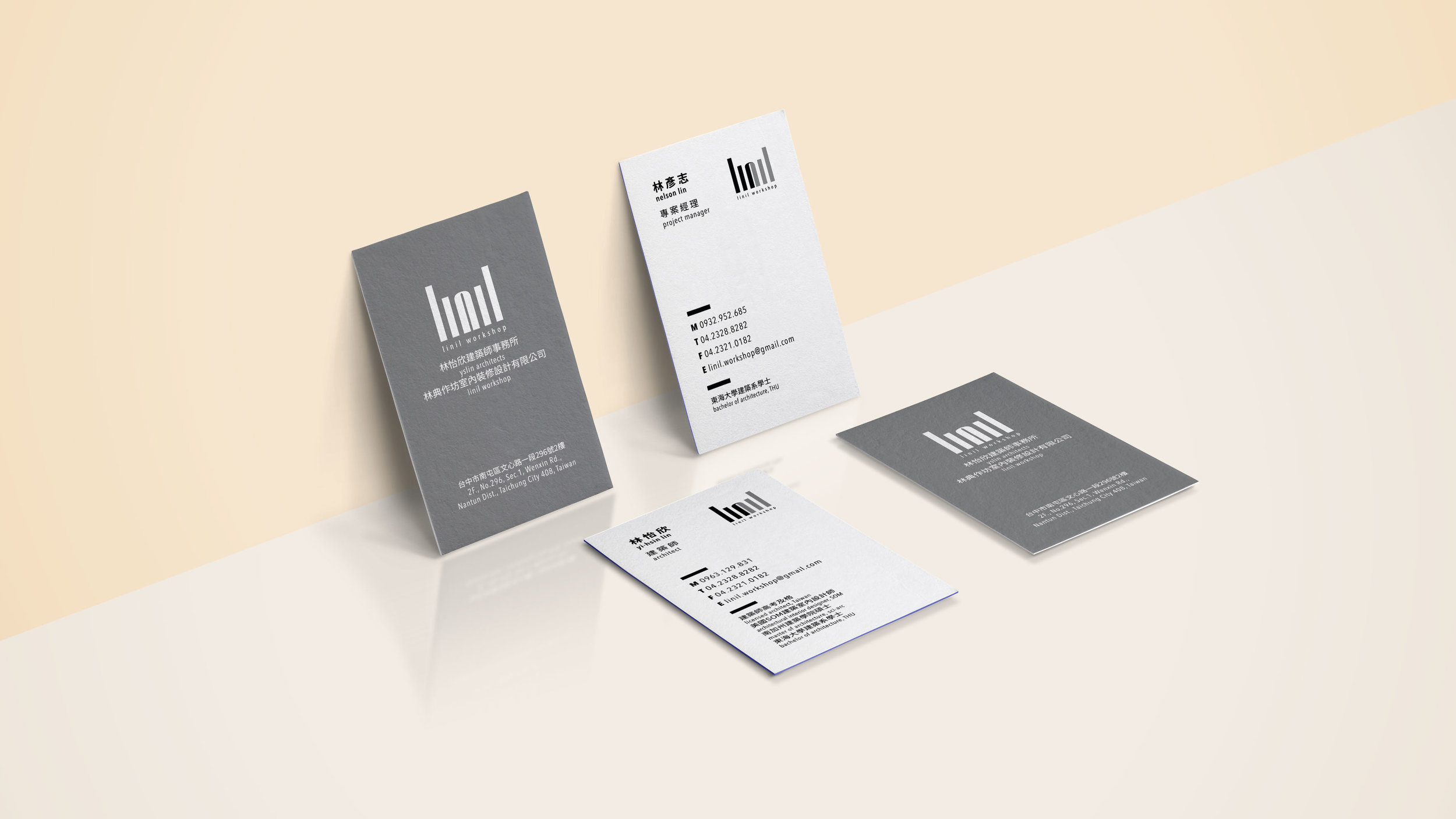Business cards designed for an Architecture firm