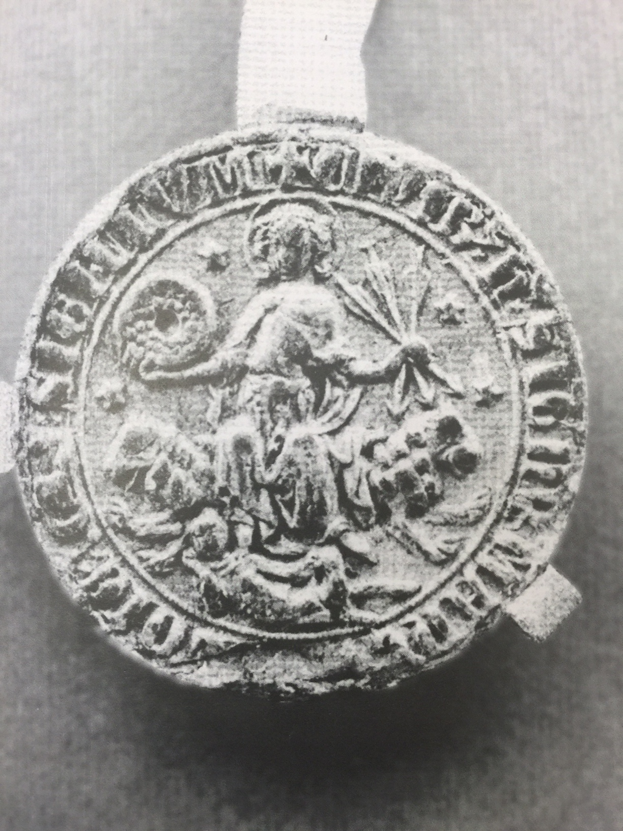 Opprinnelige segl fra 1300-tallet.