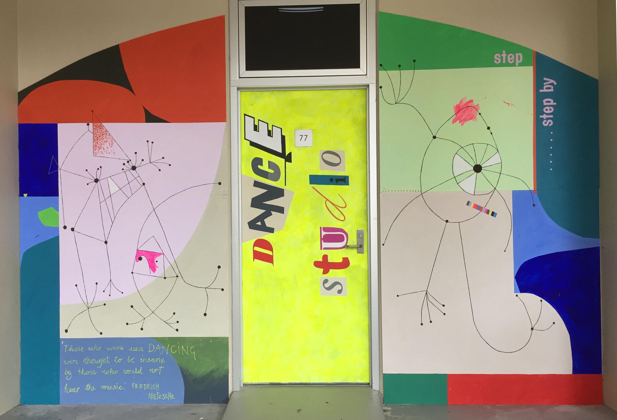 Dance Studio Mural - St Michael's College