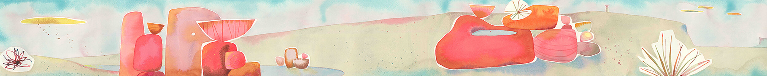 Flinders To Fleurieu #1. Watercolour on Arches, 300mm x 2500mm.