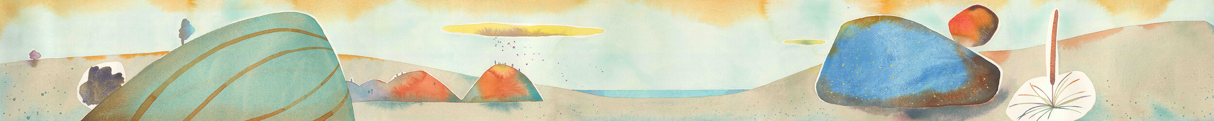 Flinders To Fleurieu #4. Watercolour on Arches, 300mm x 2500mm.