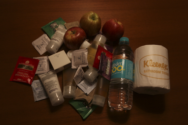 Just one days collection of goodies from the wonderful Hotel Leela in Bombay.