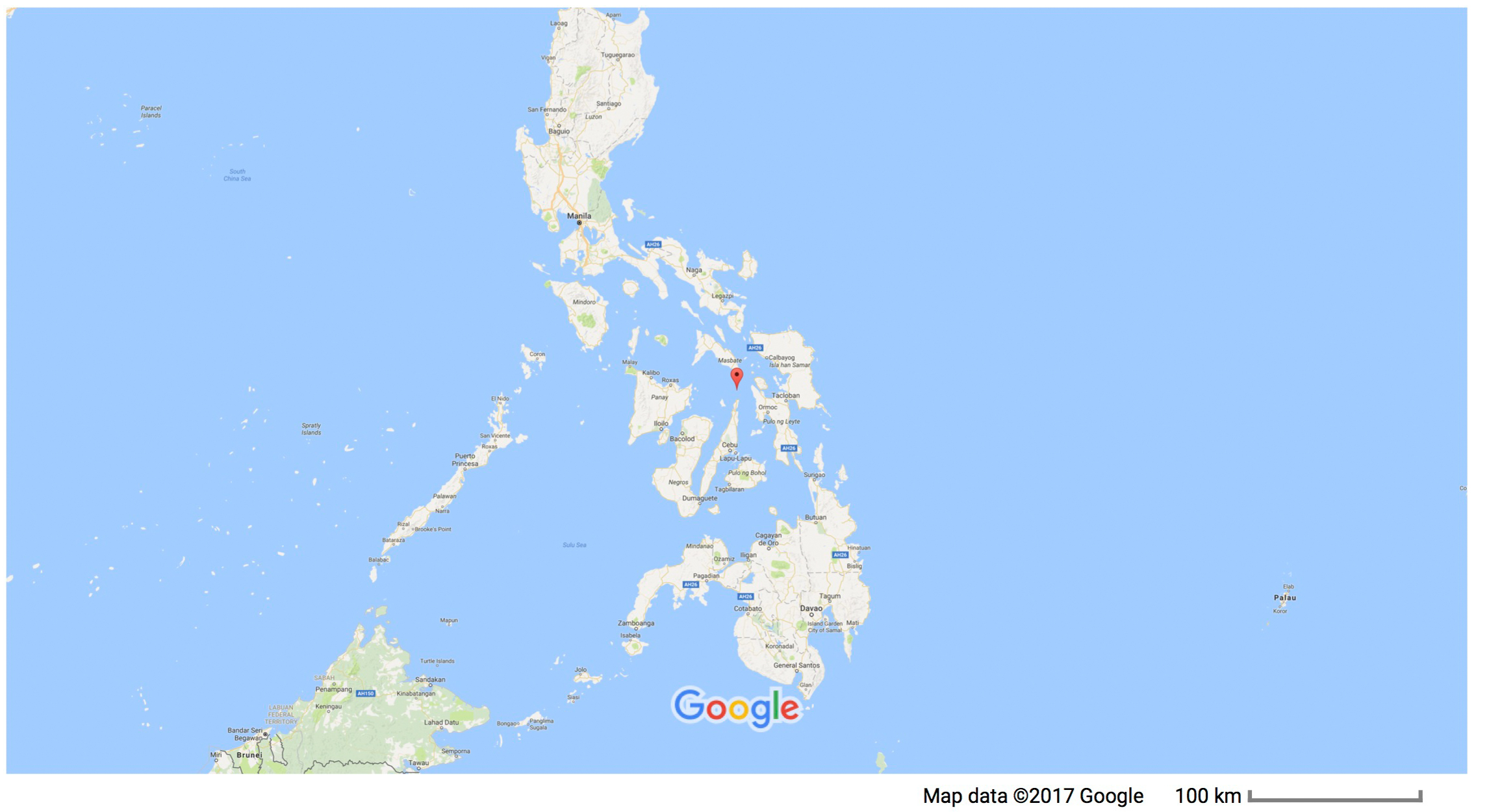 Gato Island is in the Visayan Sea in the central Philippines.