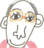 Me drawn by an 8-year old poet in one of my workshops