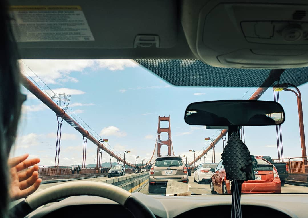 On the bridge, San Francisco