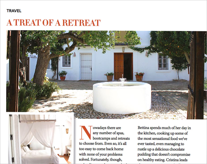 Dales Life Magazine Media Article about Olive Retreat Spain