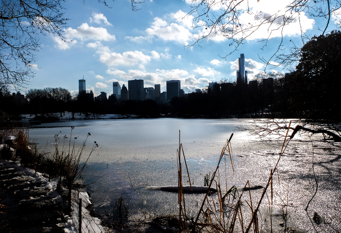 Close to the waters in Central Park.