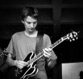 Max in High School playing his first gig, around 1996