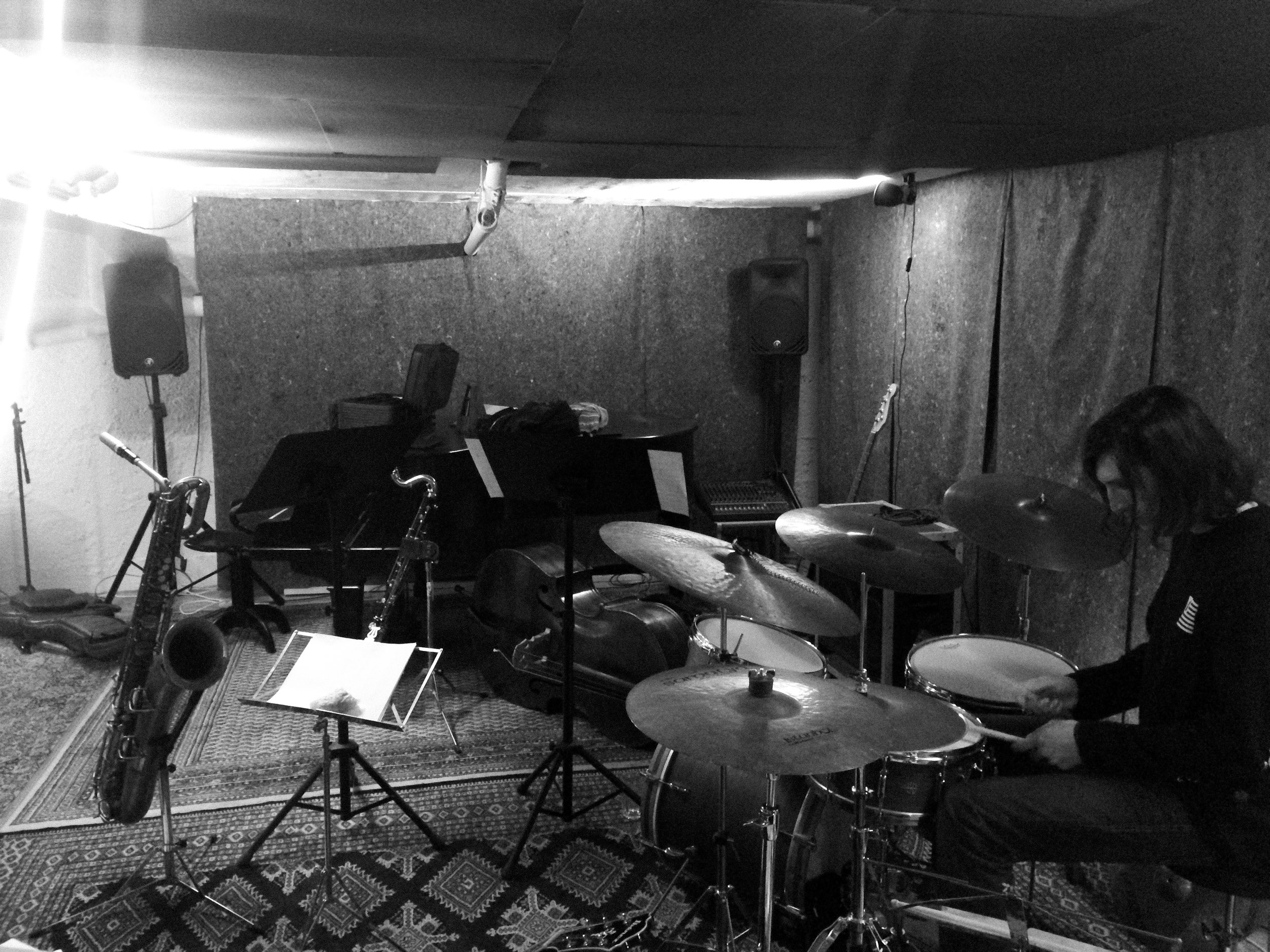 Max Frankl quartet rehearse for the upcoming tour.