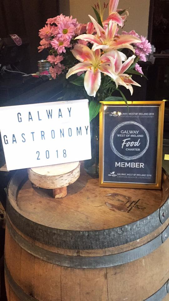 "GALWAY GASTRONOMY 2018 - ""Food plays a critical role in all of our lives in Galway, from farmer and fisherman to chef, restaurant and consumer"" The year 2018 is going to an exciting year for all things food in Galway. 56 Central has signed the charter for Galway for the European Region of Gastronomy 2018. By signing this charter 56 Central has bid to continue to embrace the food heritage that is rich and abundant in the West of Ireland. This platform will allow Galway to showcase the wonderful food produced here in the West of Ireland."