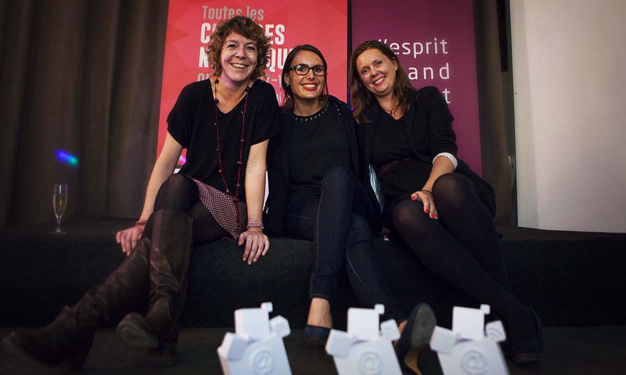 Les 3 finalistes du Prix Femmes du Digital Ouest 2015 : Mélanie Péron, l'Effet Papillon - Anaïs Vivion, BeApp, Emilie Gieler, Akeneo