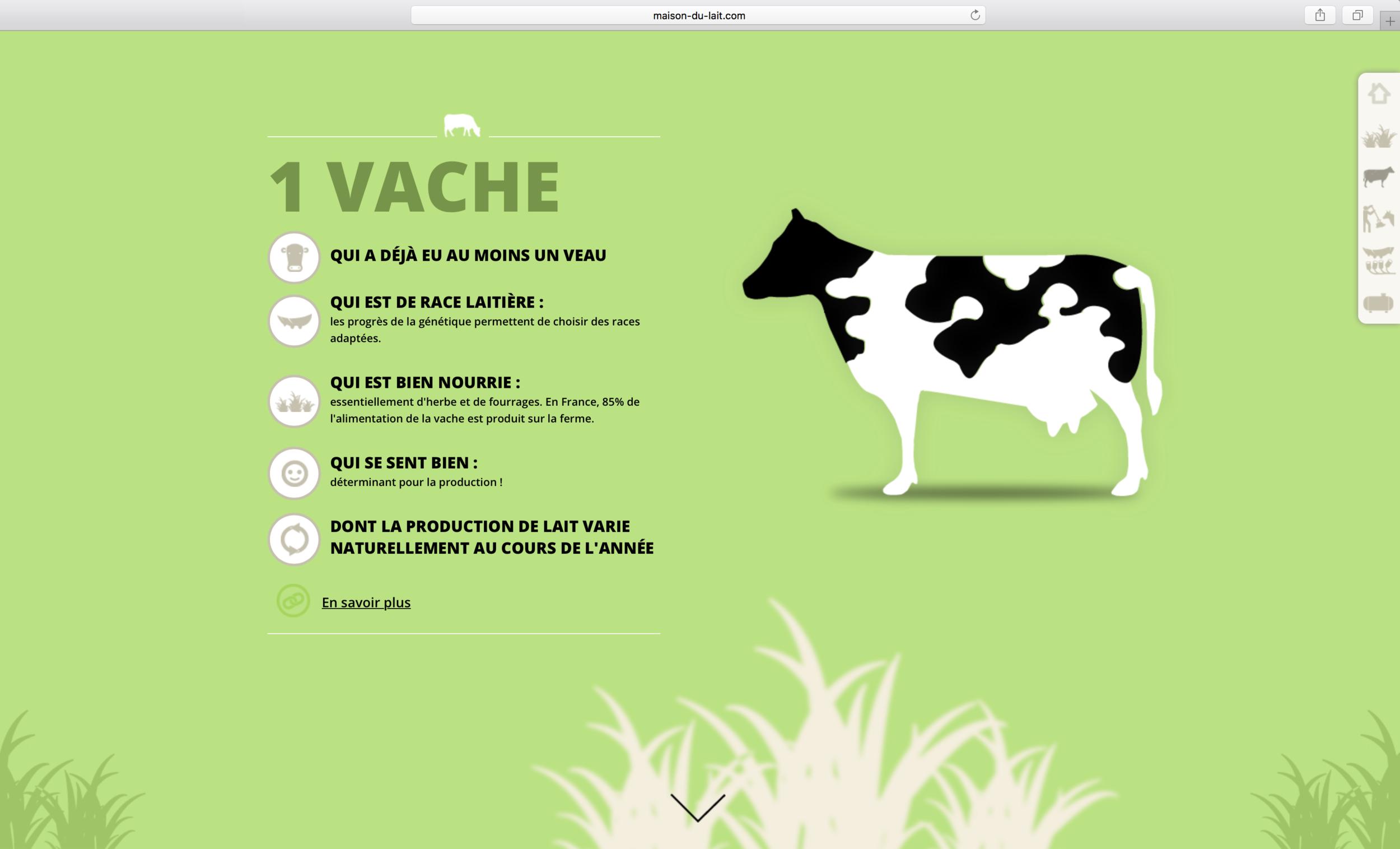 Un des visuels de maison-du-lait.com #scrollitelling #storytelling http://www.maison-du-lait.com/sites/all/animations/pour-produire-1L-de-lait/index.html#introduction