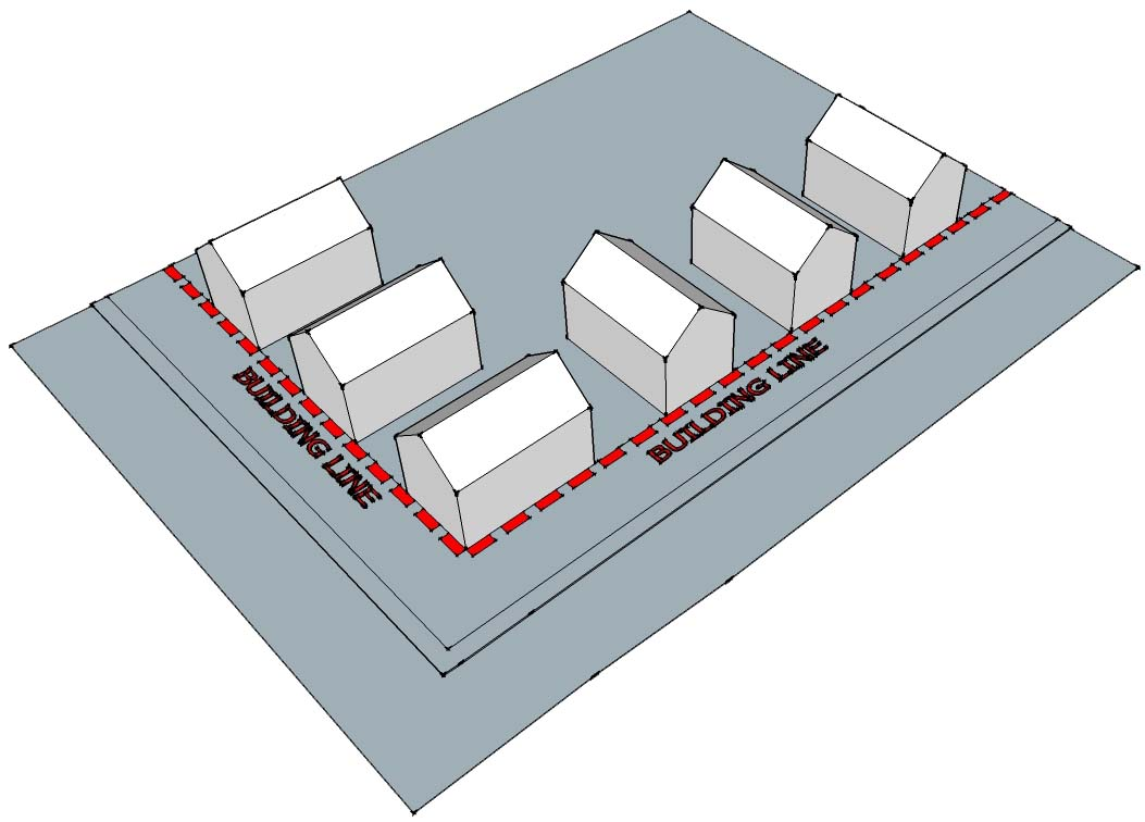 Harvey Norman Architects material considerations related to building lines
