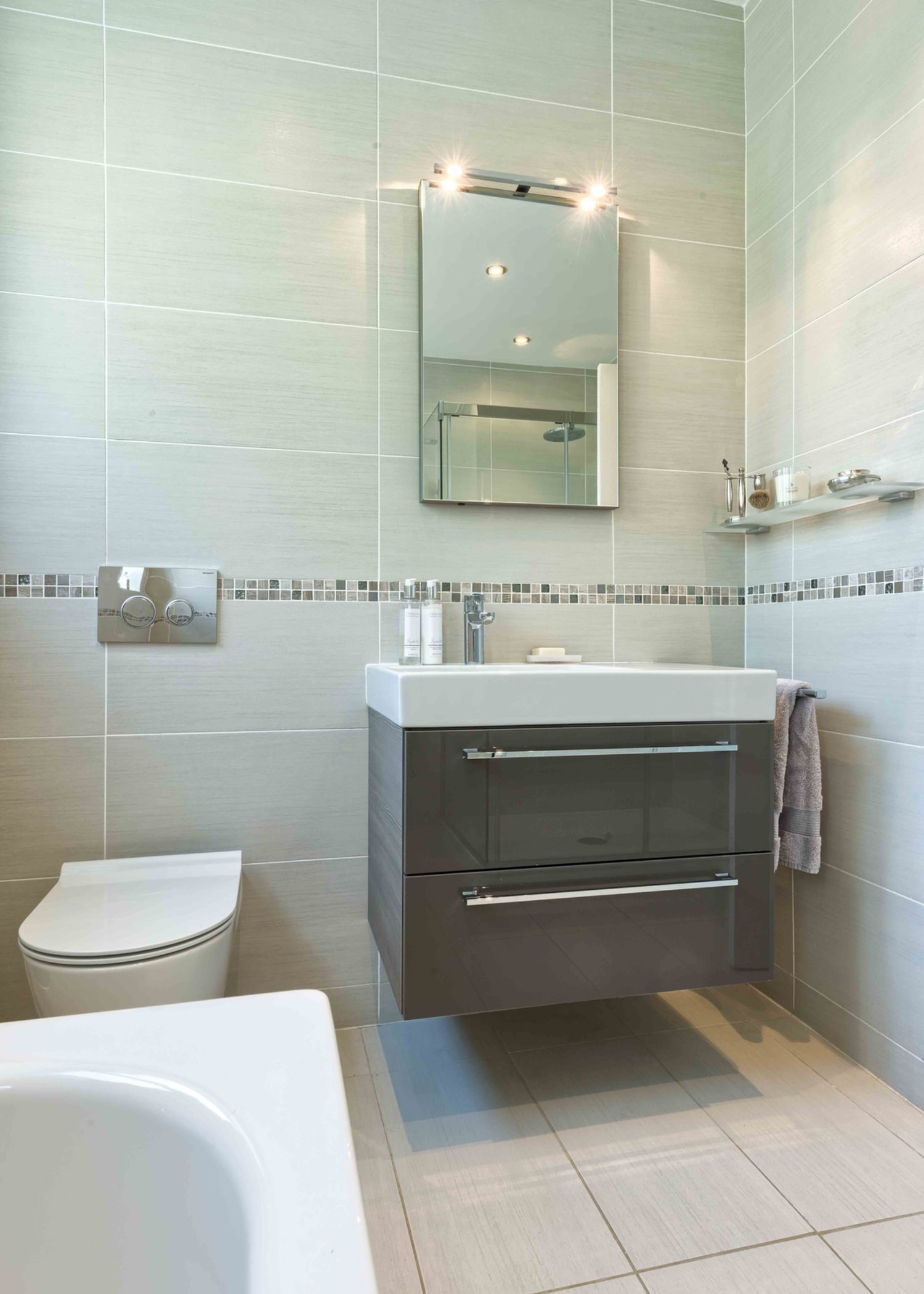 The bathroom sink a house extension by Harvey Norman Architects St Albans
