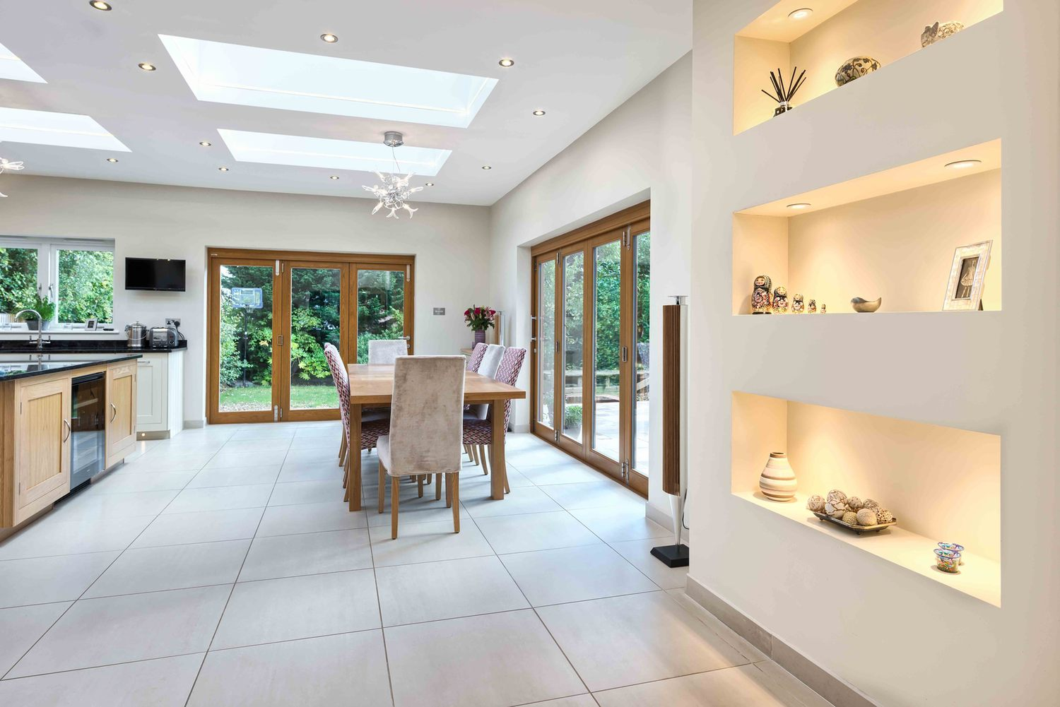 Another dining room view a house extension by Harvey Norman Architects St Albans