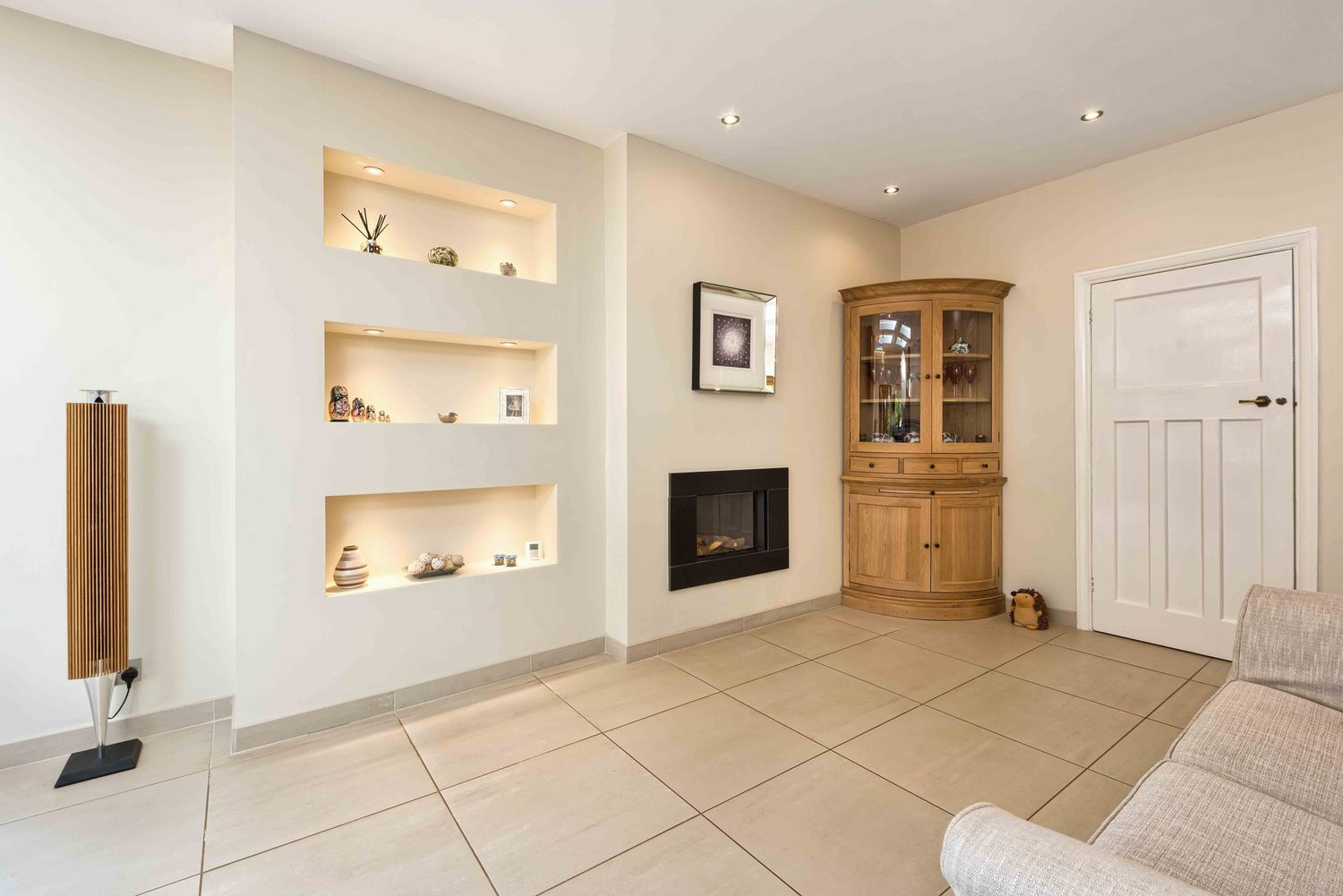 The centre piece, fireplace and cabinet a house extension by Harvey Norman Architects St Albans