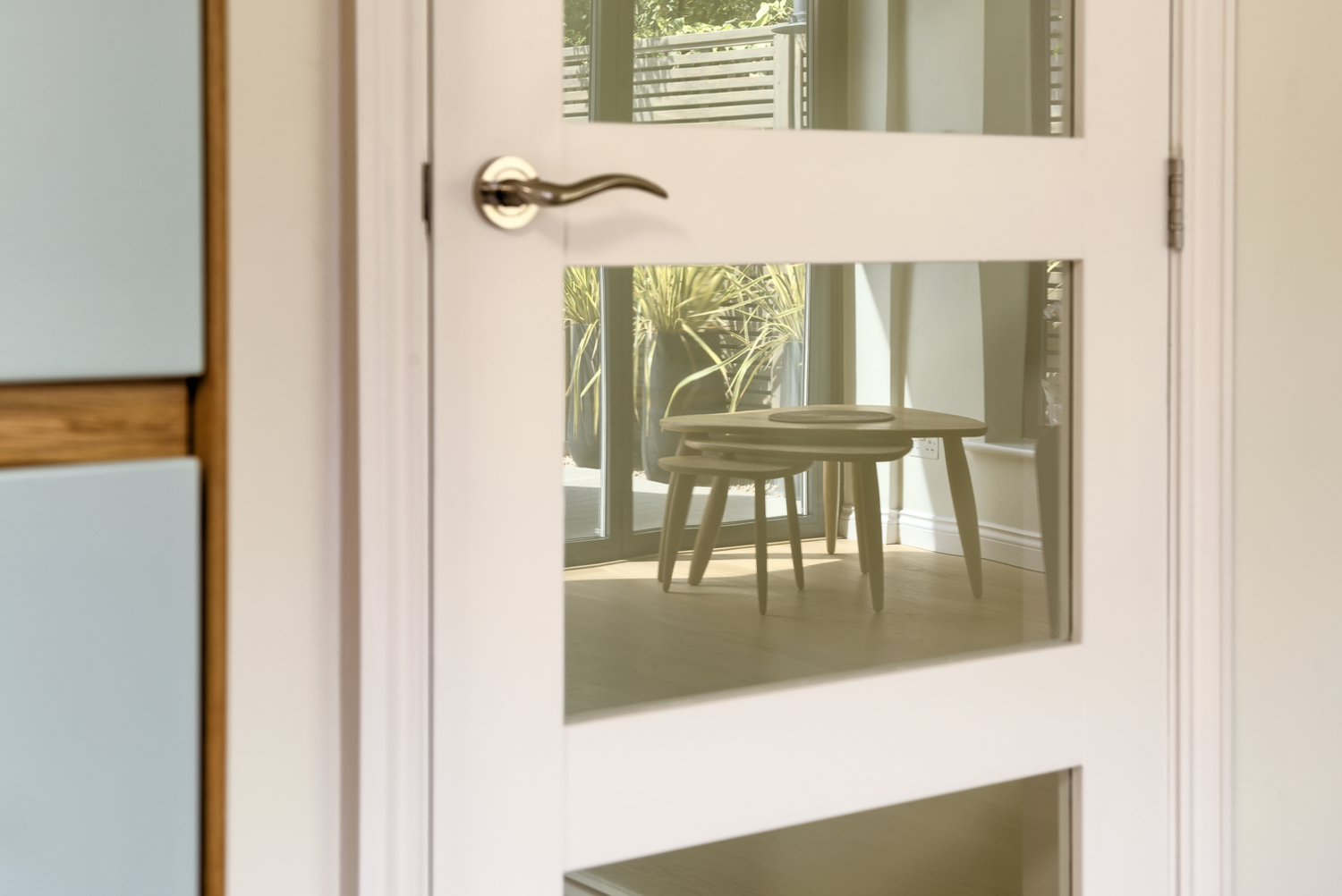 Door of a Scandinavian house extension by Harvey Norman Architects Bishop's Stortford