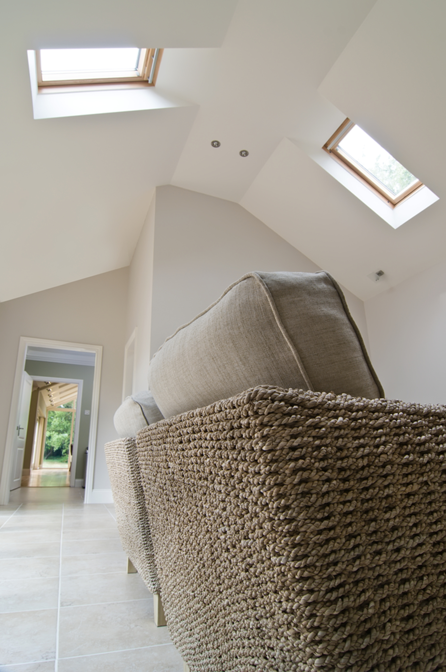 Open plan view of a house extension by Harvey Norman Architects Cambridge