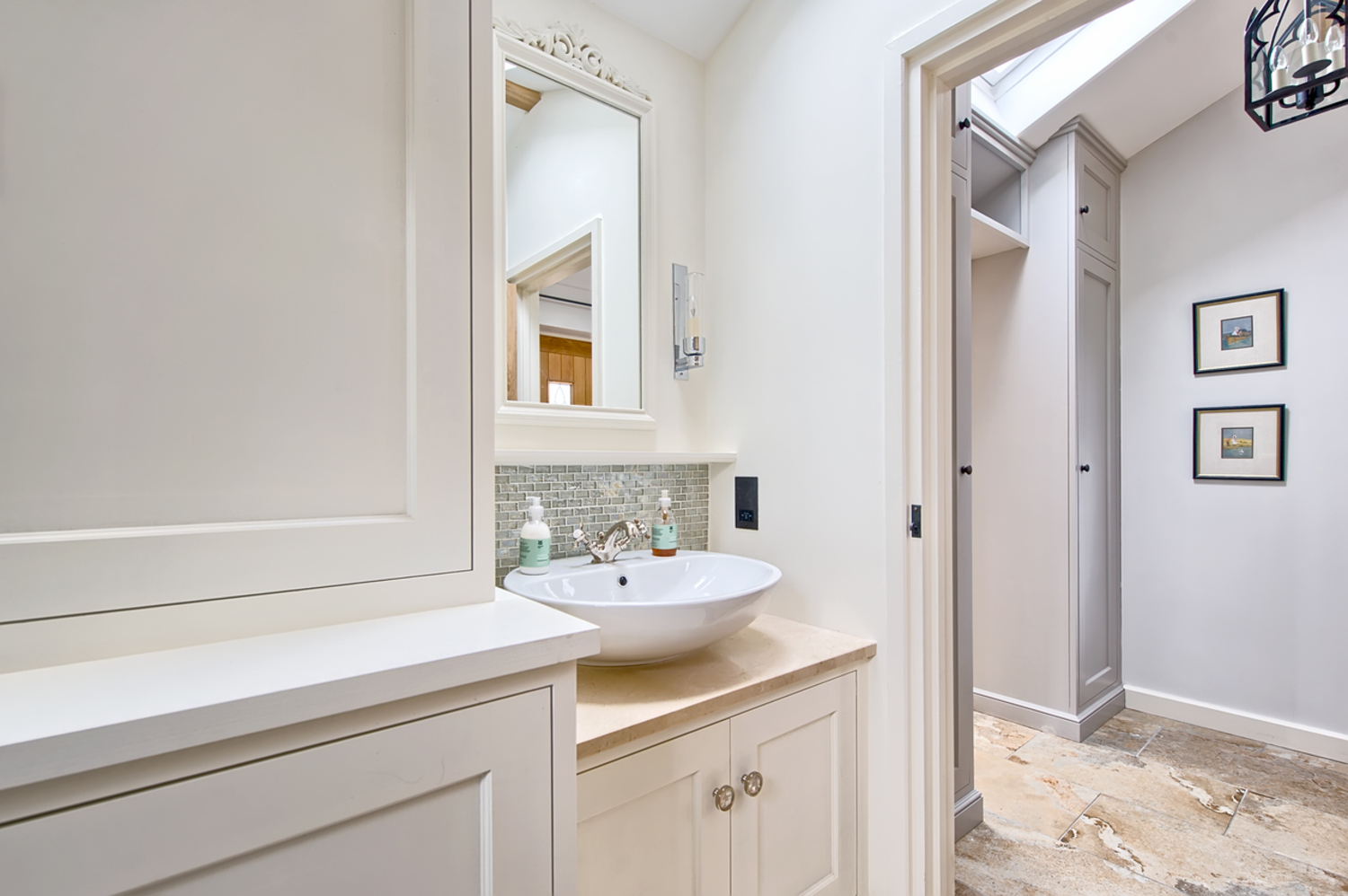 Downstairs bathroom of a house redesign by Harvey Norman Architects Cambridge