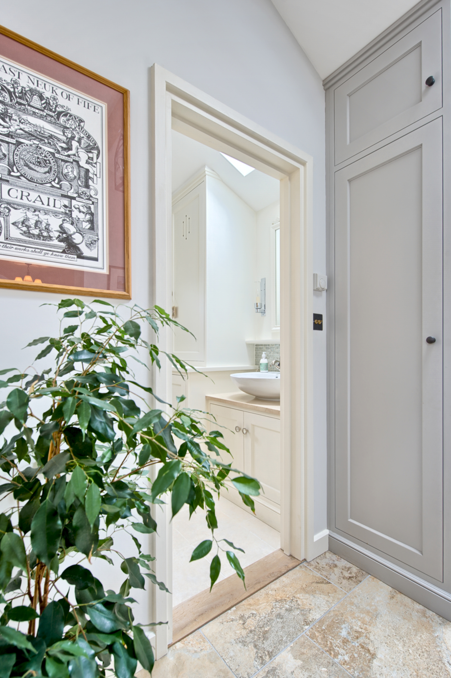 Downstairs bathroom plant of a house redesign by Harvey Norman Architects Cambridge
