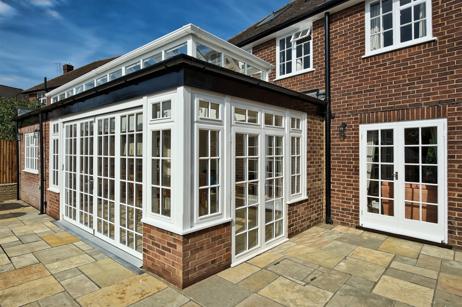 Outside doors and windows of a house extension by Harvey Norman Architects St Albans
