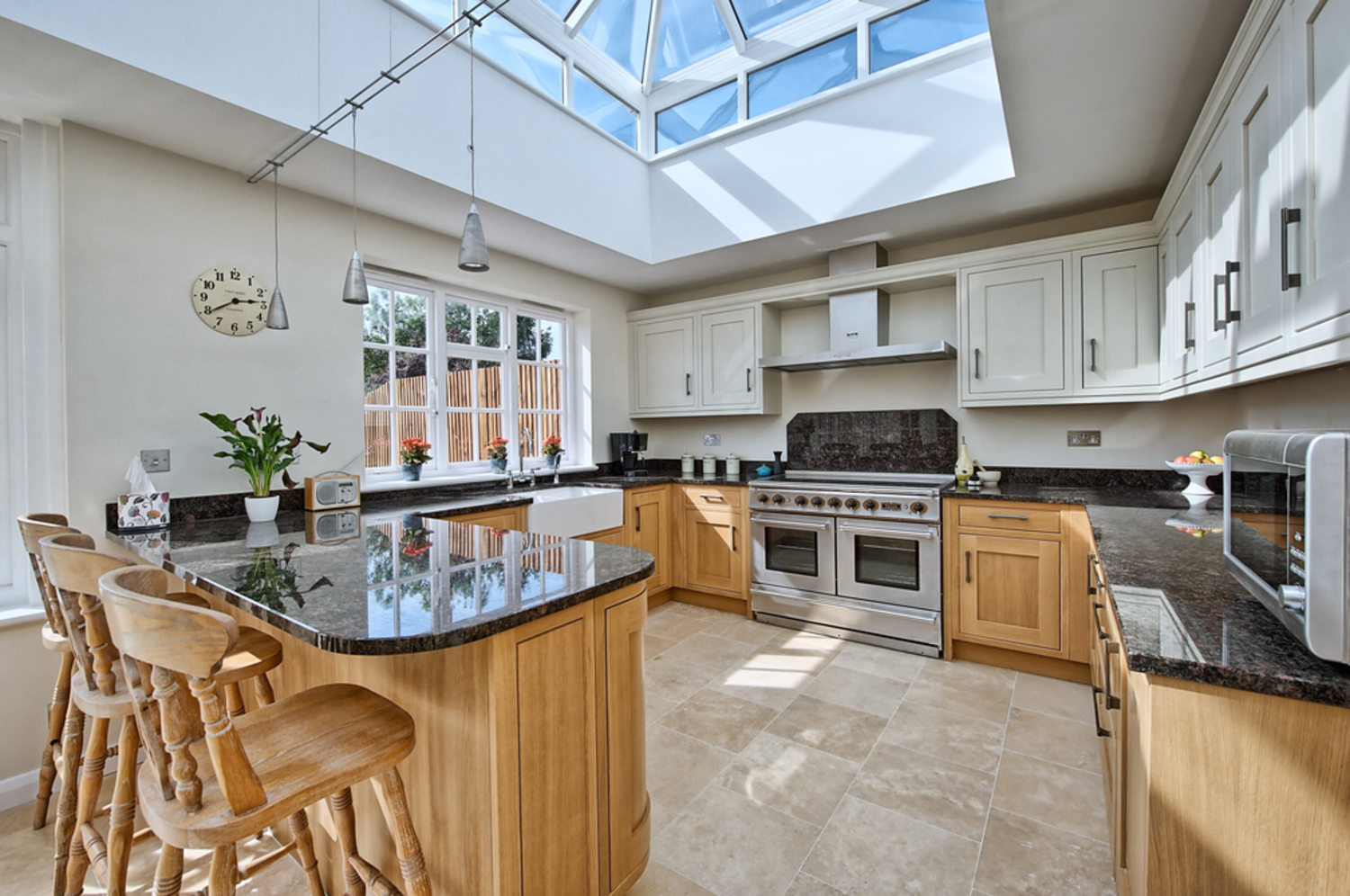 Kitchen view of a house extension by Harvey Norman Architects St Albans