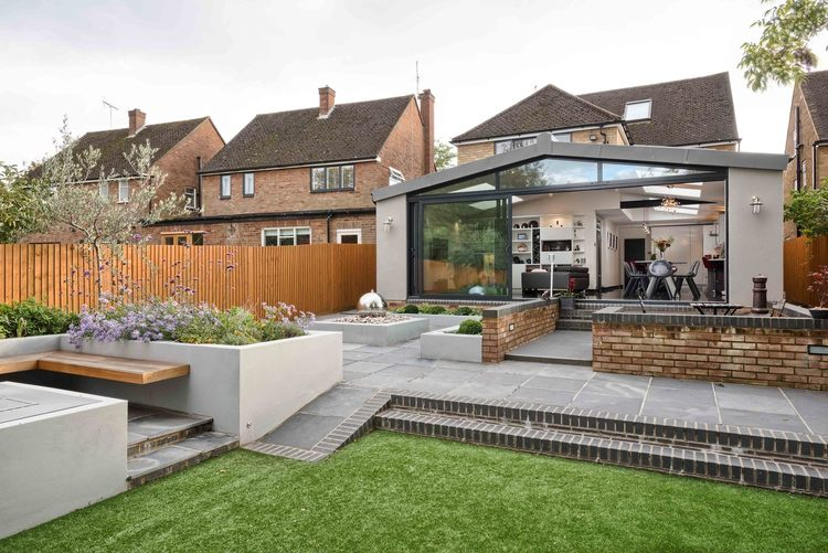 Modern house extension by Harvey Norman Architects in St Albans — click image for full portfolio