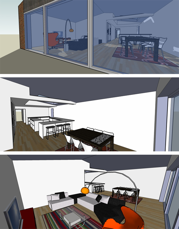 3D drawings to illustrate plans