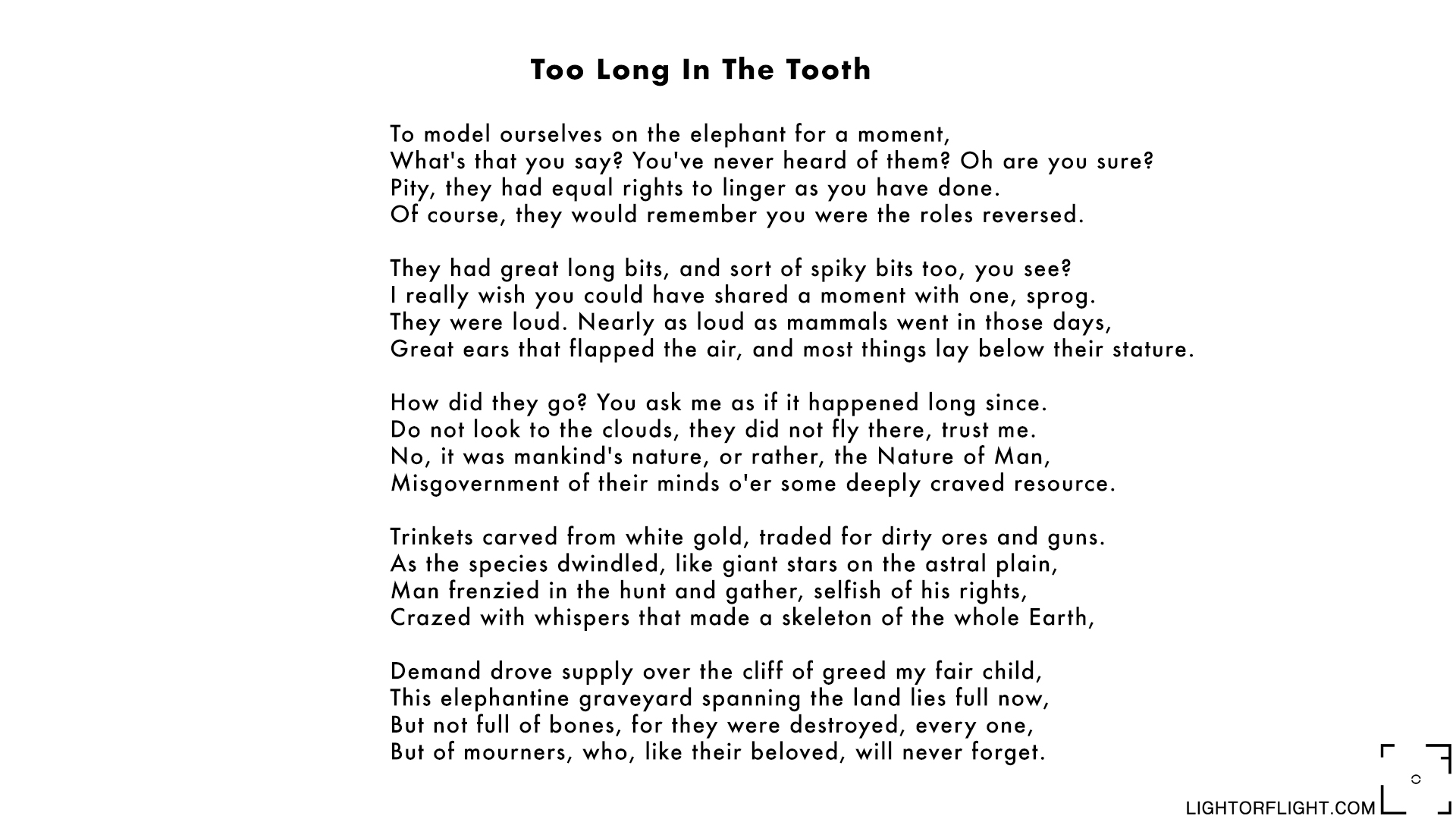 Too Long In The Tooth.jpg