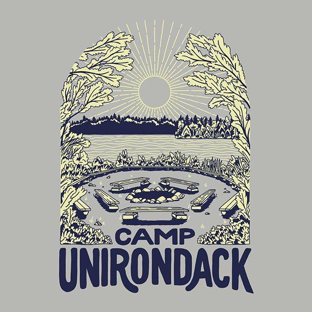 T-shirt illustration for @unirondack