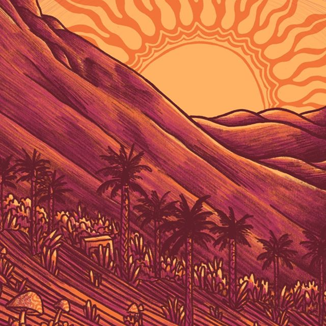 Small section of a new gig poster. Any idea where this band might be playing? 🏔☀️