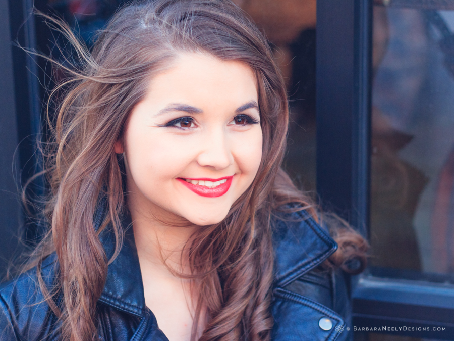 Beautiful senior girl close up