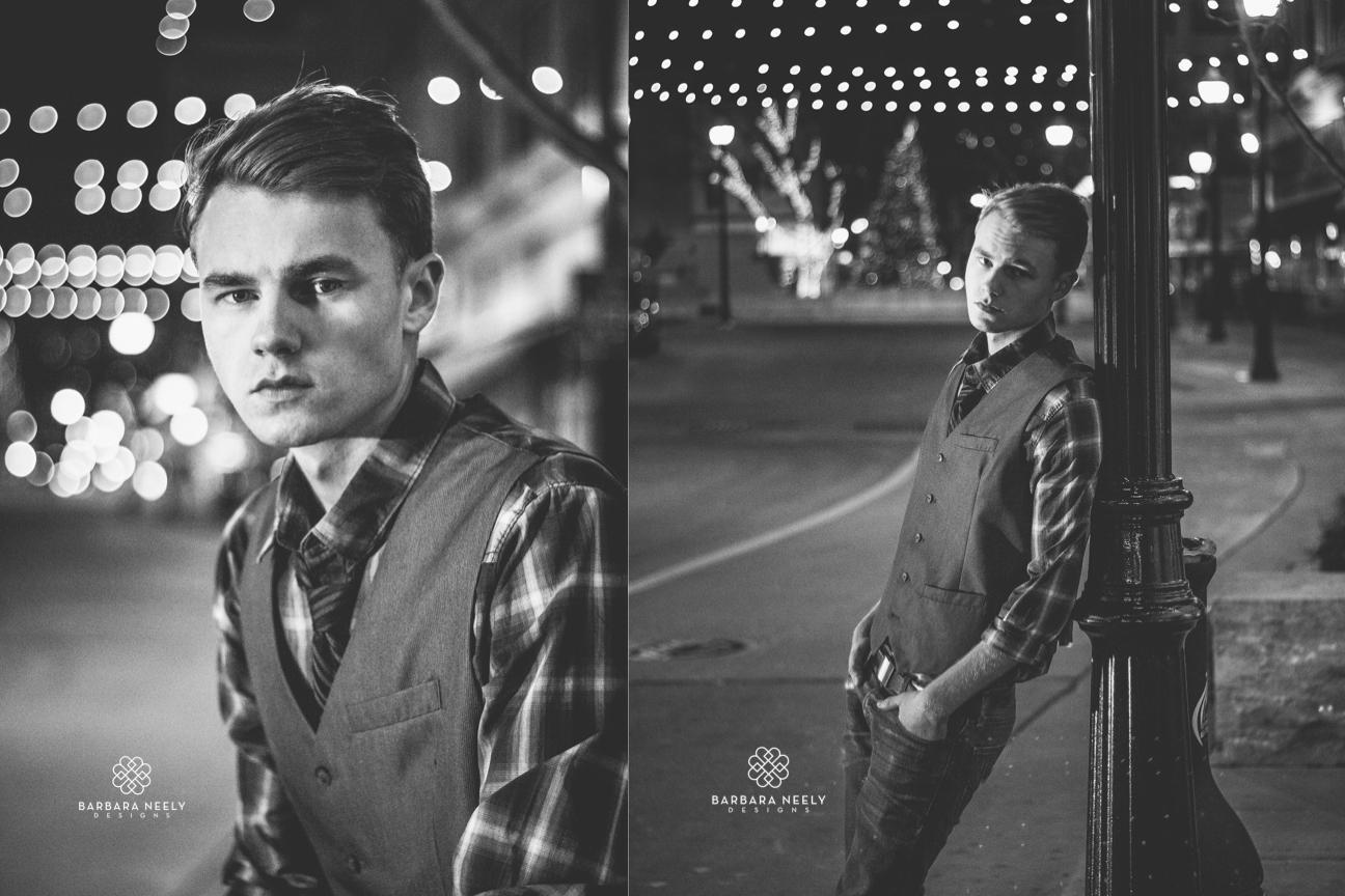 Senior Guy photos in downtown Springfield Missouri