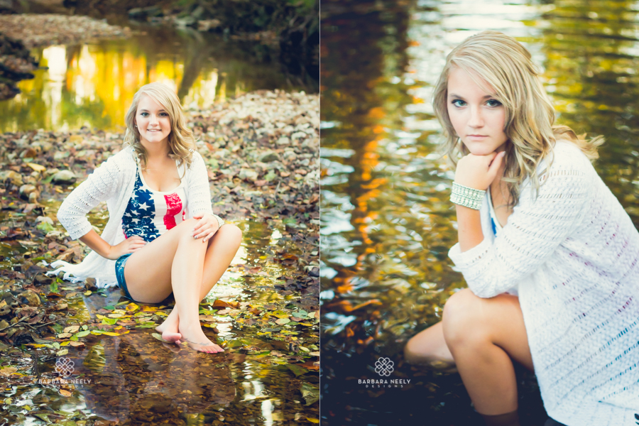 Best Country Girl in a Creek Senior Pictures in Southwest Missouri
