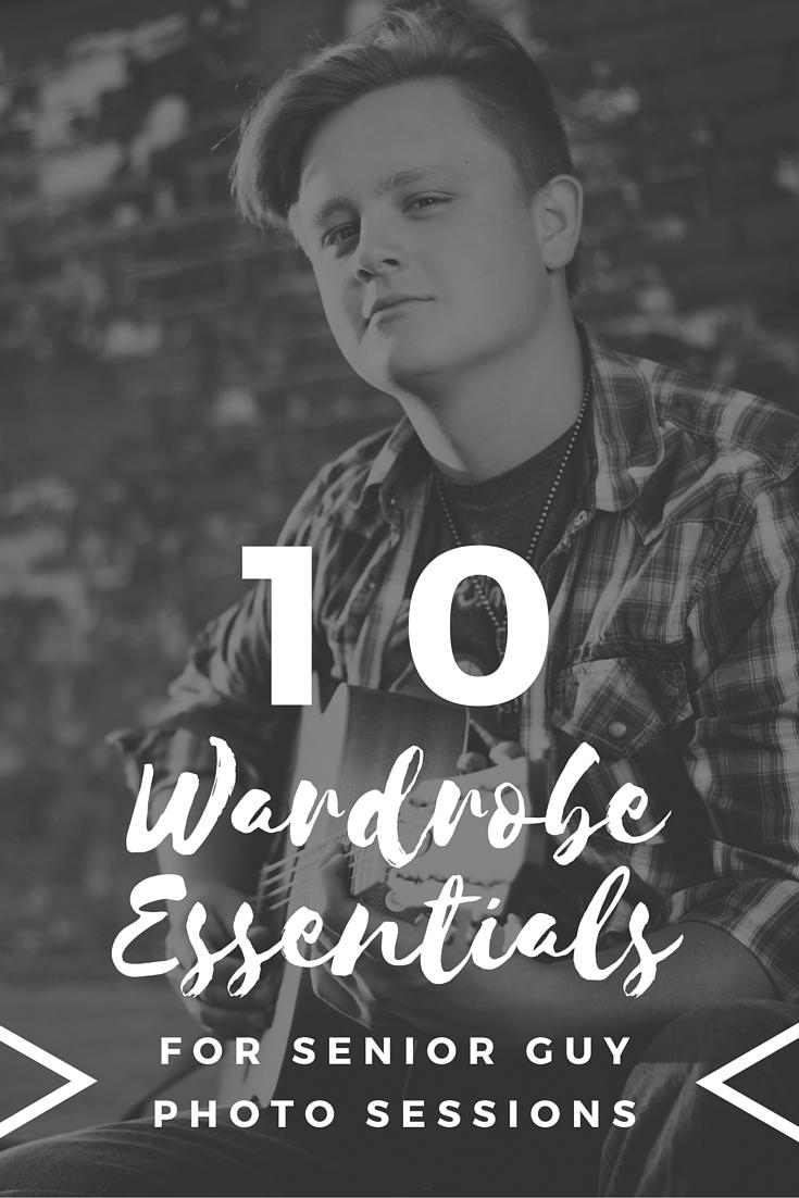 10 Wardrobe Essentials for Senior Guy Photo Sessions