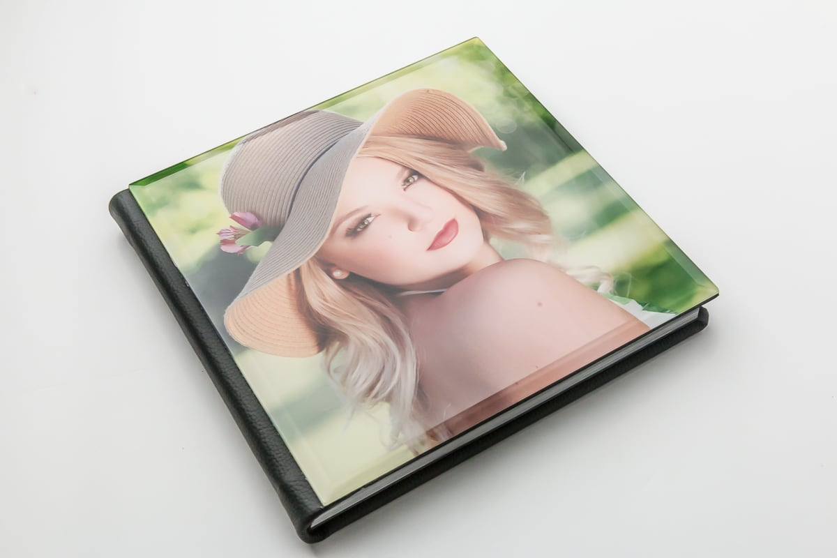 gorgeous acrylic and leather cover albums