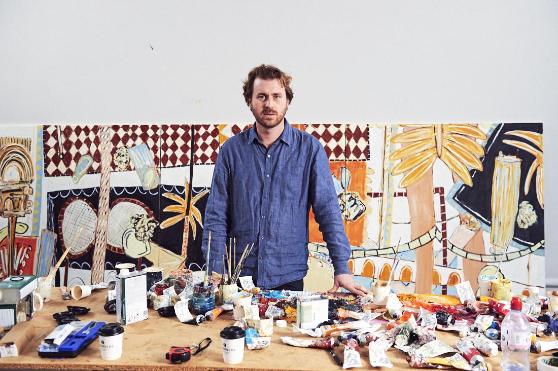 Alec Cumming in his Studio in Norwich, Uk, 2017. Photo: Andi Sapey.