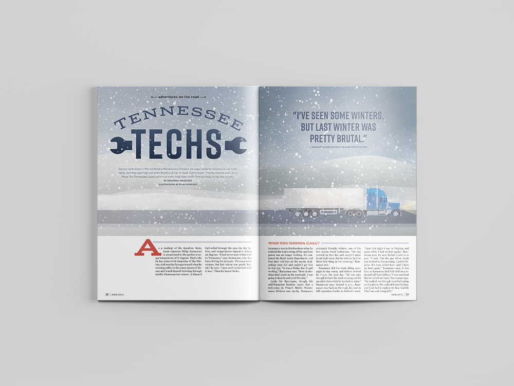 """""""Tennessee Techs"""" feature in September issue of  Prime Ways  magazine."""