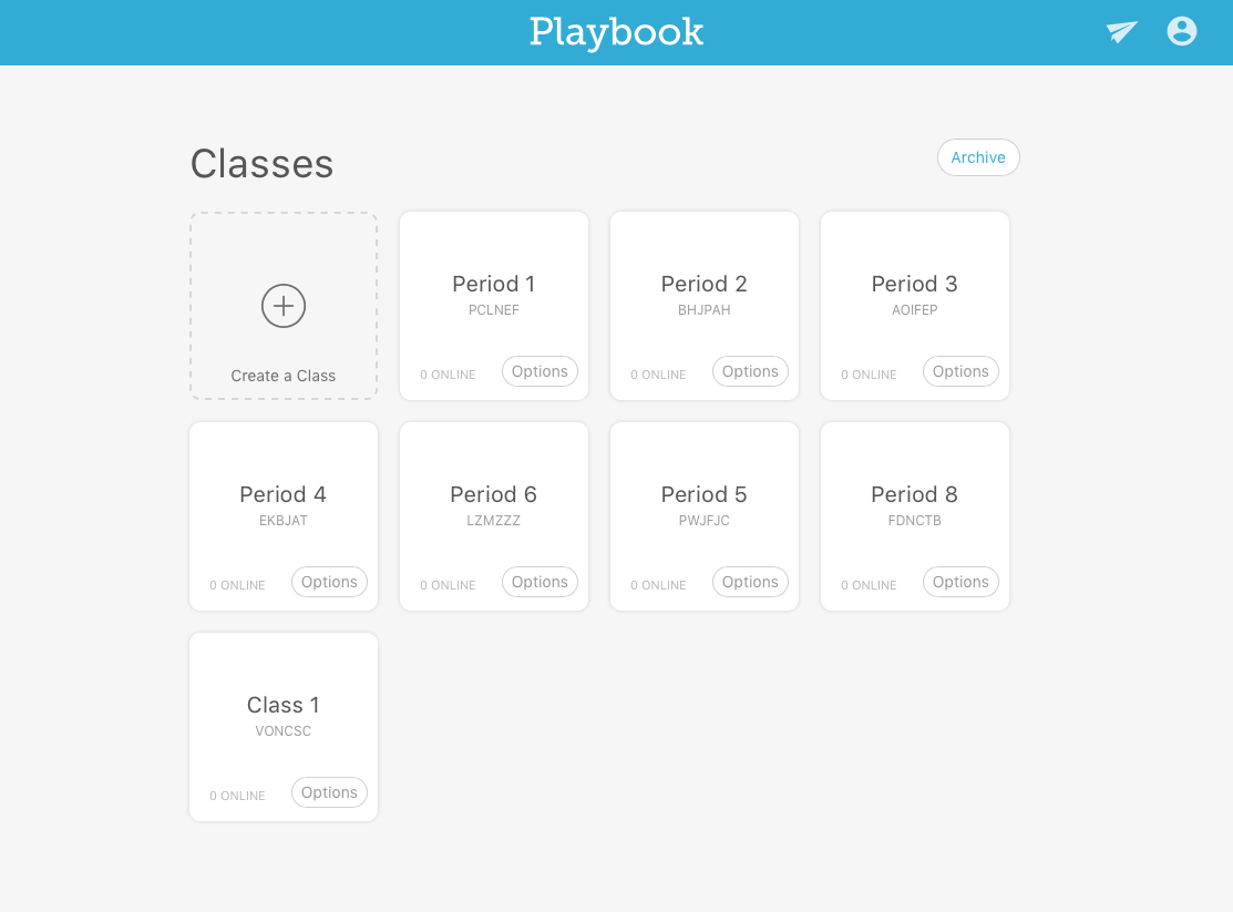 Playbook allows teachers to create and curate their digital class sessions just like they would their analog classroom. Drag and drop allows them to organize and prioritize.