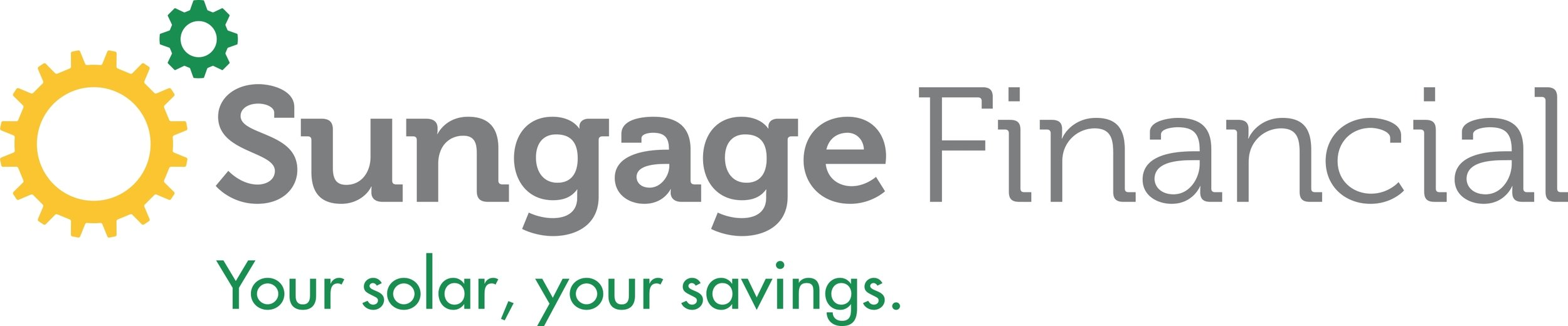 Sungage Financial  - A solar financing innovator and creator of solar's first secured solar loan, Sungage believes ownership maximizes solar's payback to homeowners.Partnering with leading solar installers, their cutting edge online platform makes financing easy and affordable.