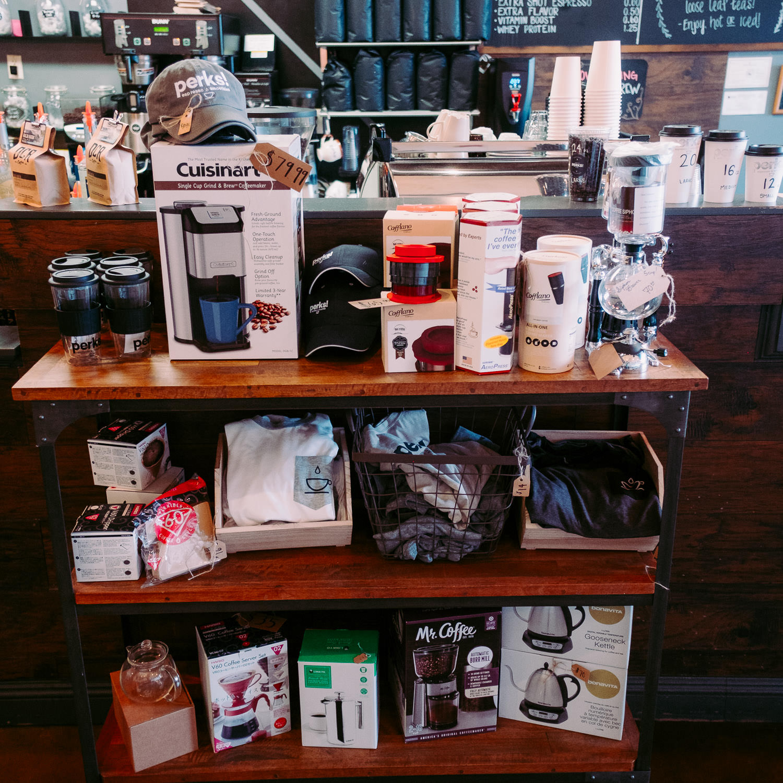 Local Coffee shop merchandise Washington Utah