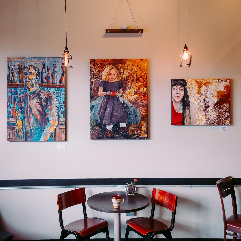 Local utah artist displayed at cafe