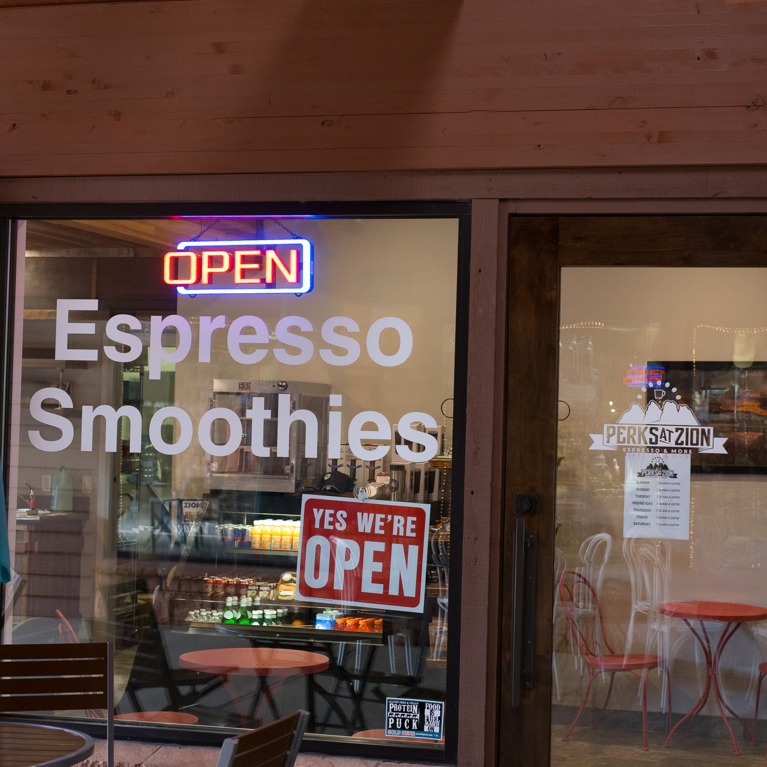Zion National Park local coffee shop