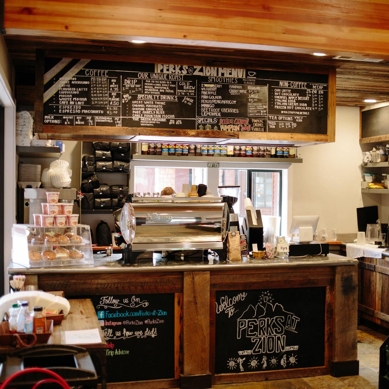 Local coffee shop in Springdale Utah near Zion