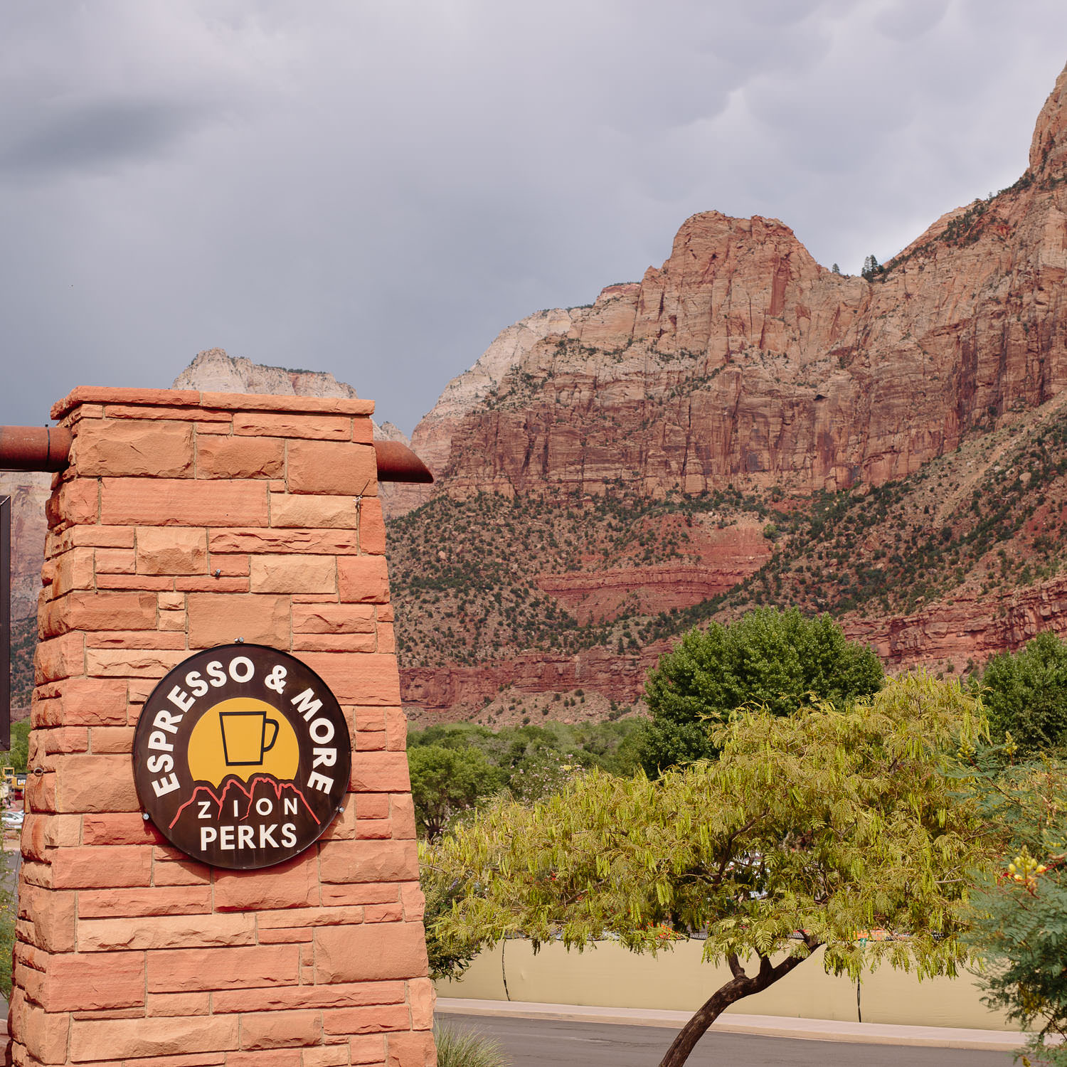 Local coffee near Zion National Park