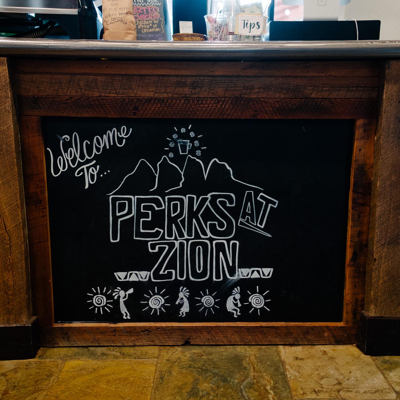 Local Coffee shop near Zion Springdale Utah