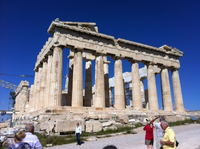 The one and only magnificent PARTHENON on the Acropolis in Athens, Greece.