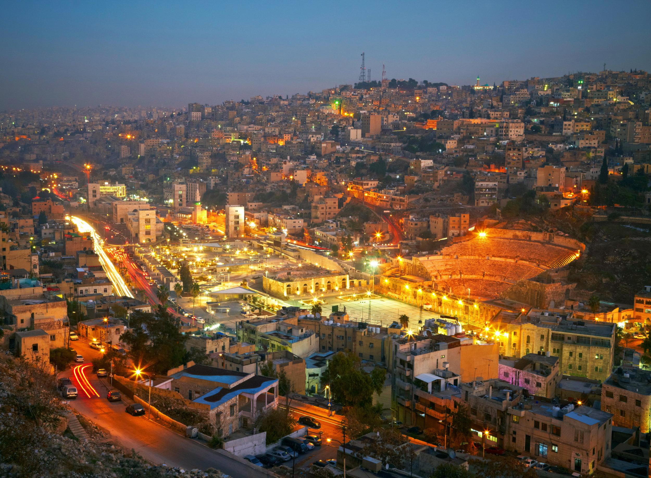 Amman, Jordan, with Roman Amphitheater