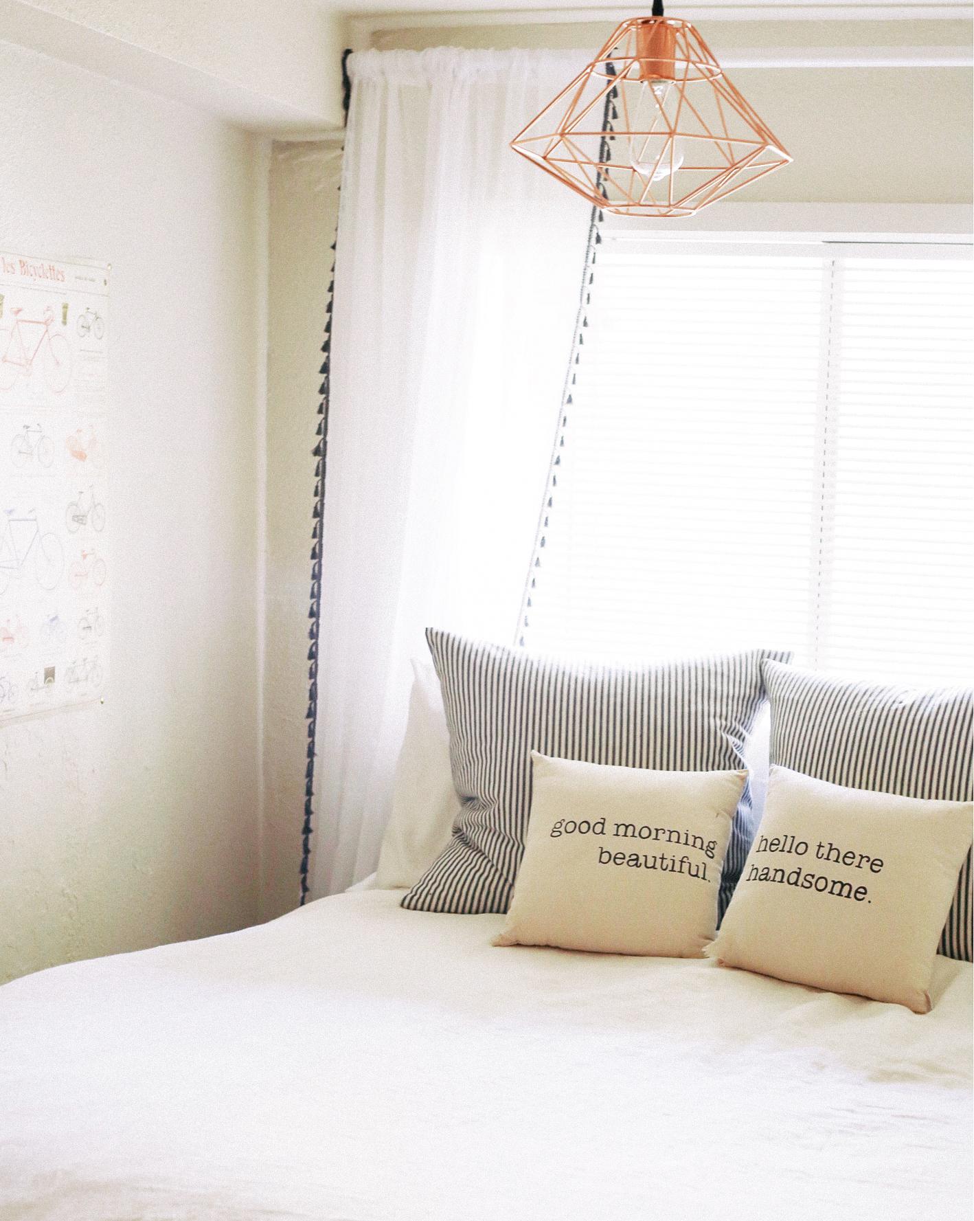 Pillows     Curtains     light     linen duvet